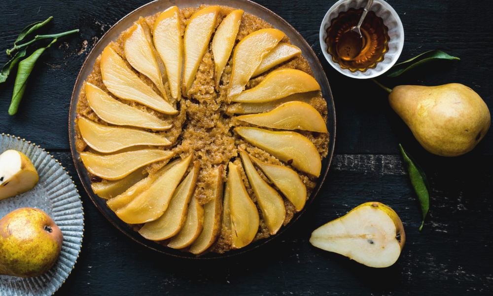 Pear, Almond and Maple Syrup Upside-down Cake, Desserts et collations