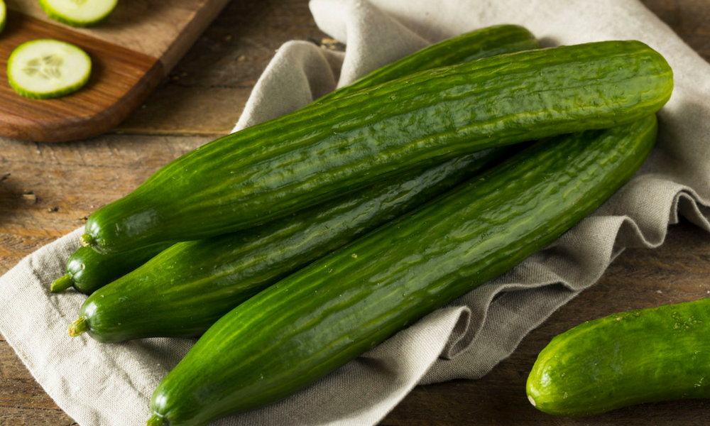 English cucumber, Fruits et légumes