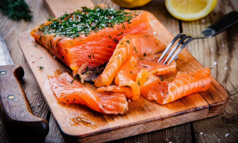 Gravlax salmon, Poissons et fruits de mer