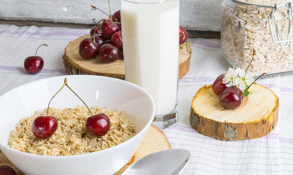 Apple, Cherry and Maple Bircher Muesli