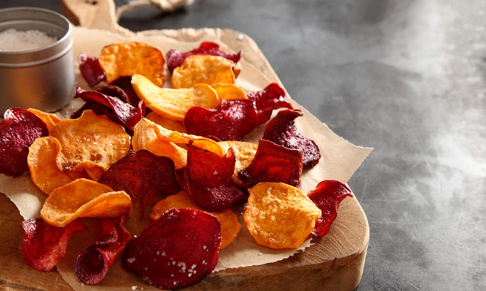 Root Vegetable Chips, Végétarien