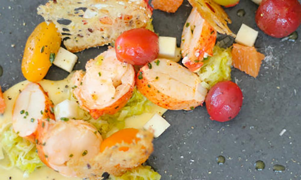 Lobster, Citrus and Smoked Pepper Mayonnaise, Marinated Tomatoes, Celeriac, Entrées