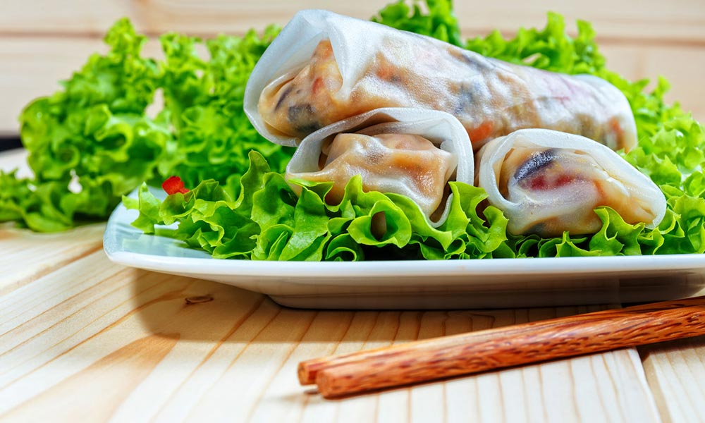 Salmon and Québec Strawberry Spring Rolls, Plats principaux