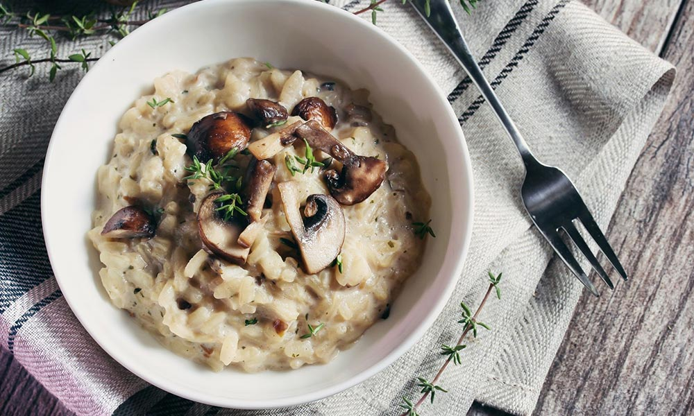 Risotto with Oyster Mushrooms and Duck, Plats principaux
