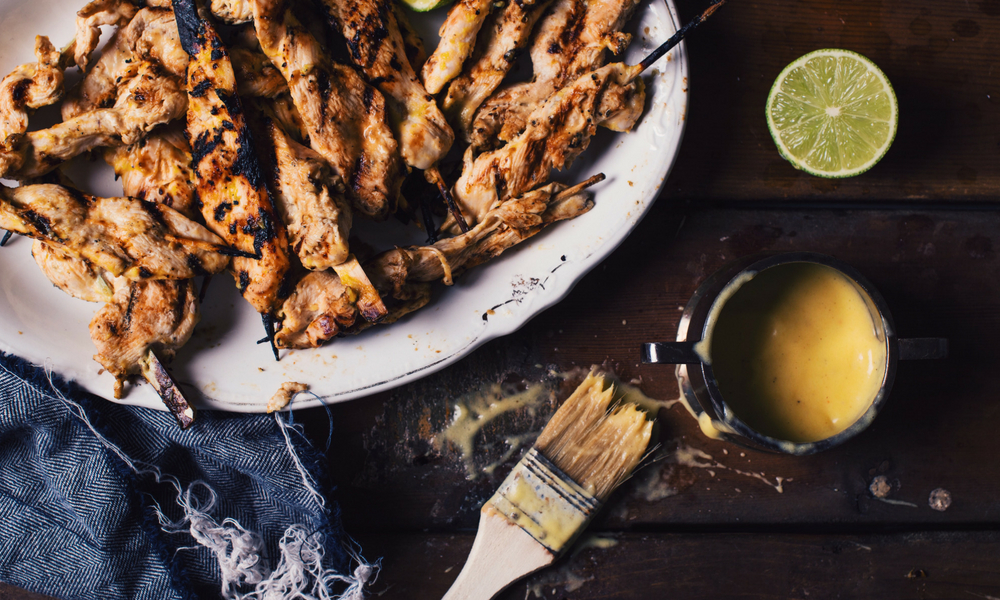 Chicken Satay with Mango and Lime, Plats principaux