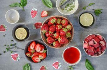 Limonade fraises-rhubarbe-basilic